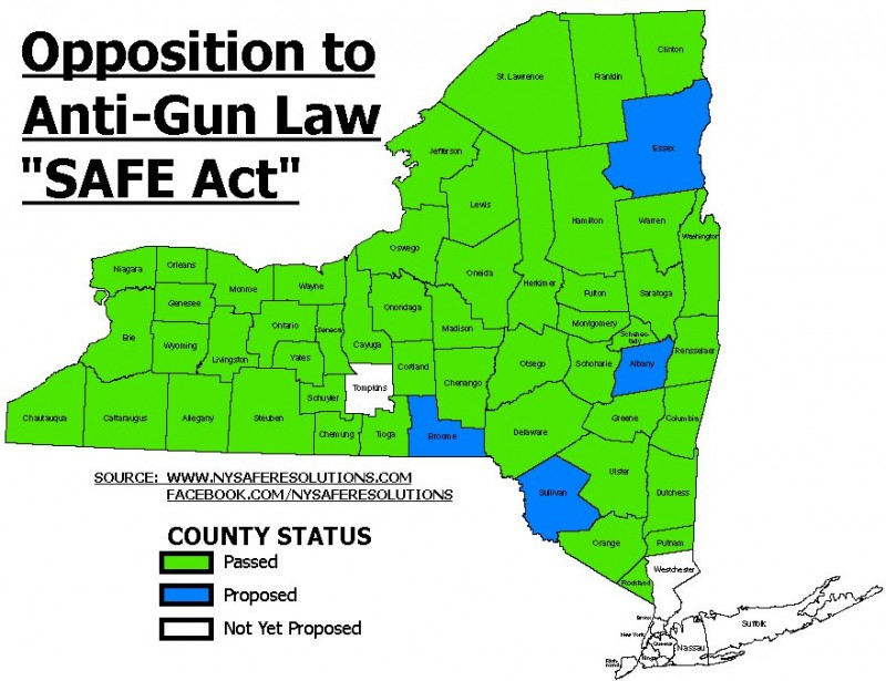 NY SAFE Act opposition map