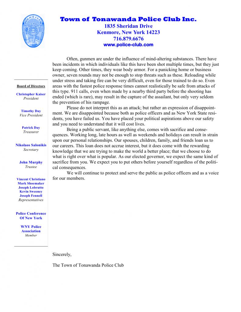 Tonawanda Police Club page 2
