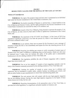 Batavia City Council Resolution