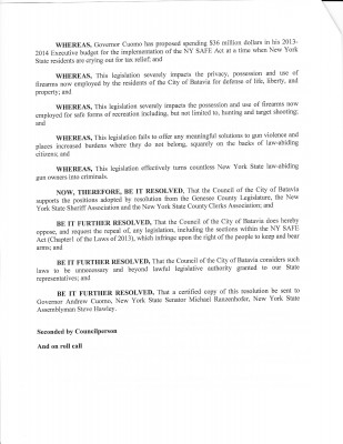 Batavia City Resolution p. 2