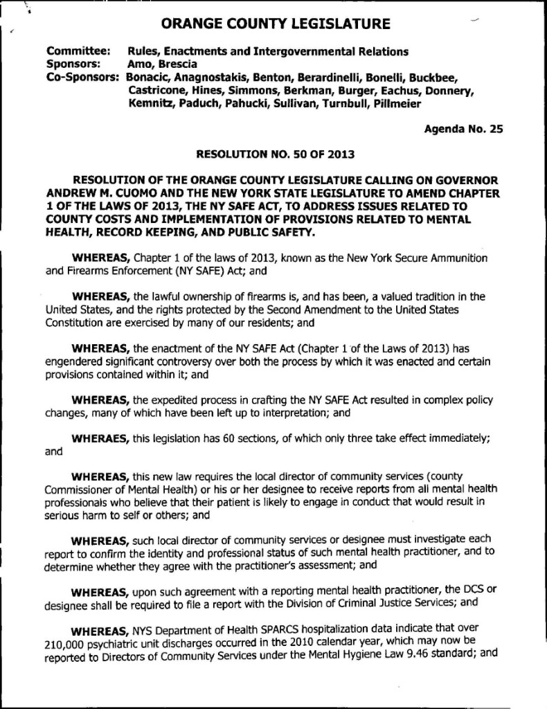 Orange county resolution 2