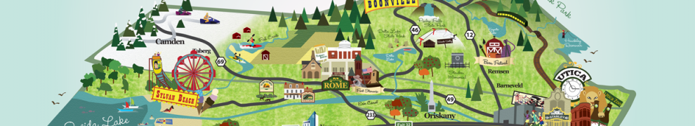 Source: http://www.behance.net/gallery/Oneida-County-Illustrated-Map/8091039