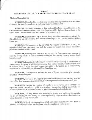 Batavia City Council Resolution