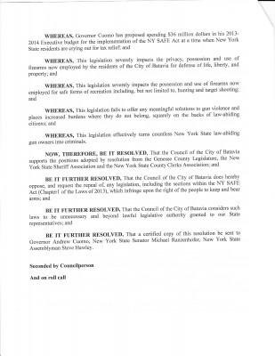 Batavia City Resolution p. 2
