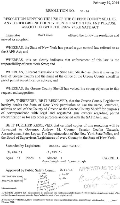 Greene County Seal resolution